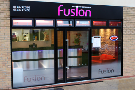 Fusion thai chinese cuisine braintree essex for Shop front design ideas
